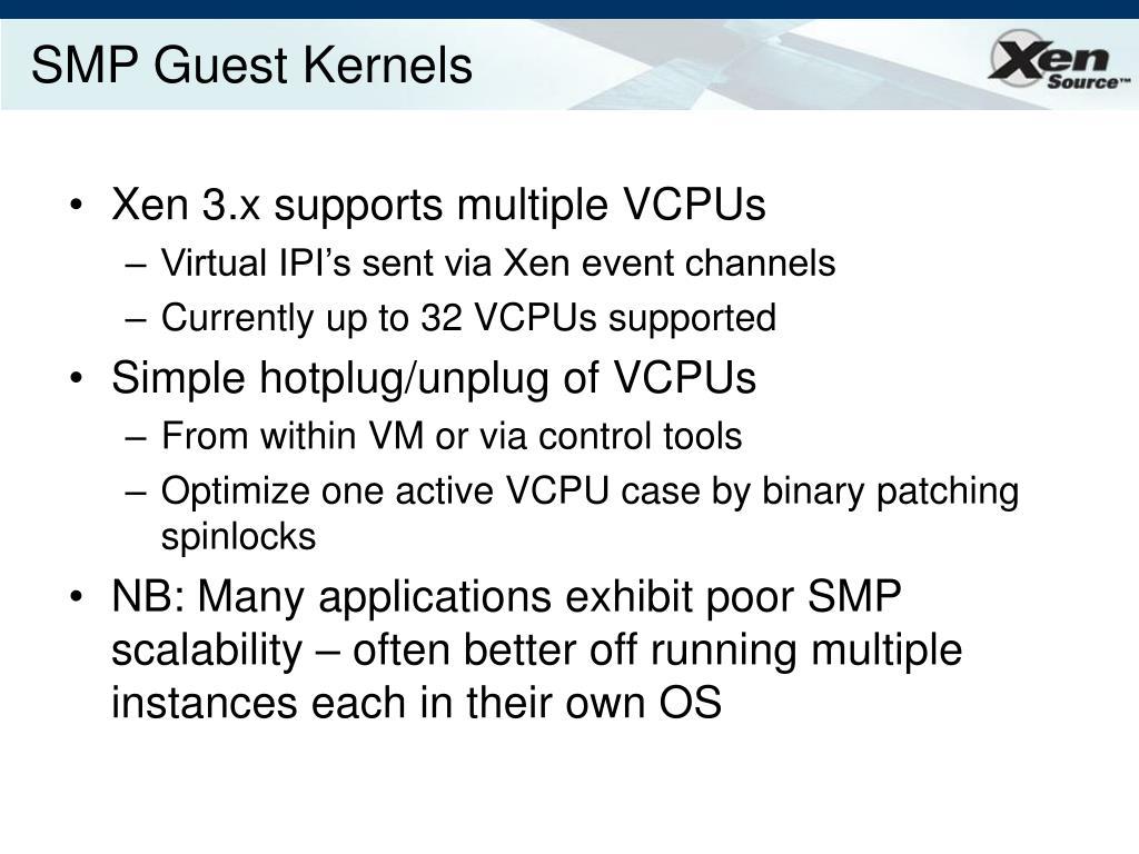 SMP Guest Kernels