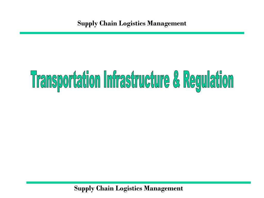 supply chain logistics management l.