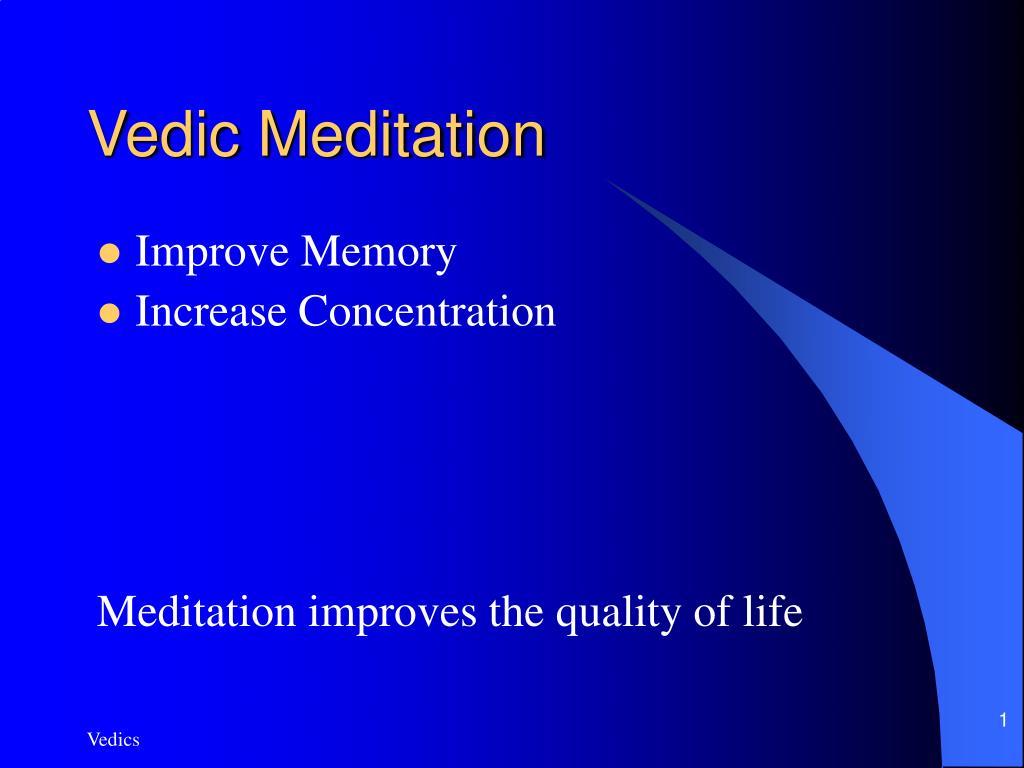 vedic meditation l.