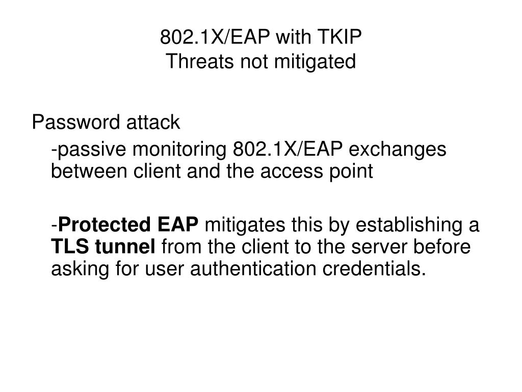 802.1X/EAP with TKIP