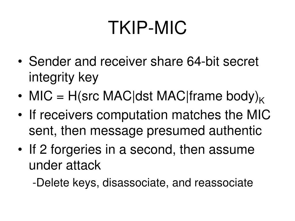 TKIP-MIC