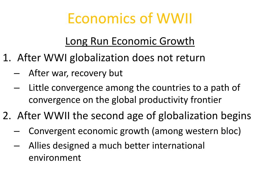 Economics of WWII