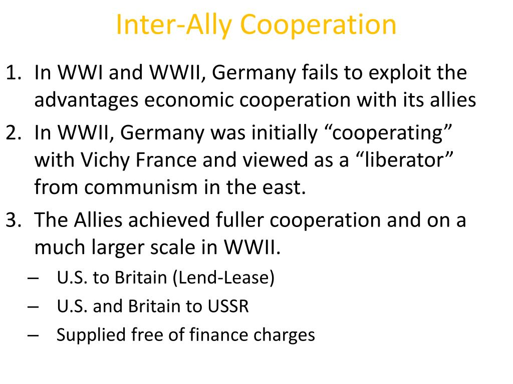 Inter-Ally Cooperation