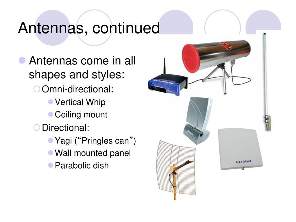 Antennas, continued