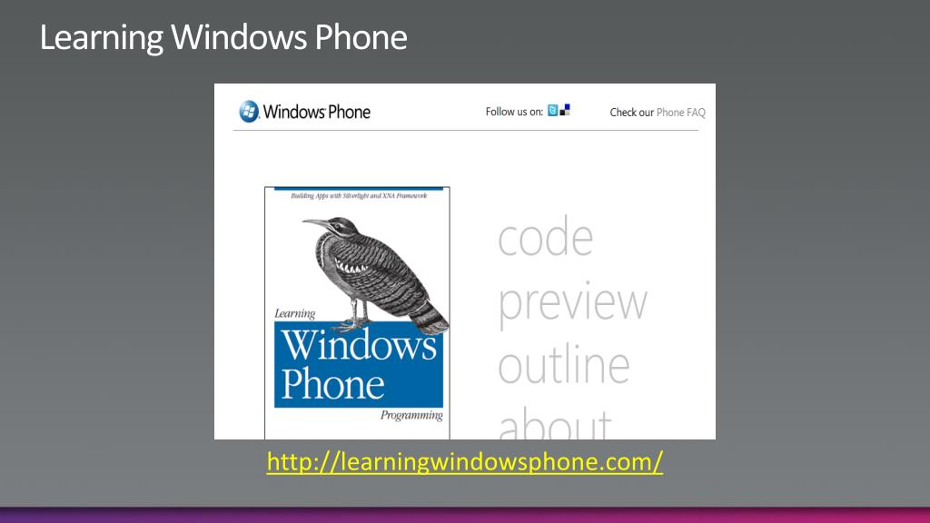 Learning Windows Phone