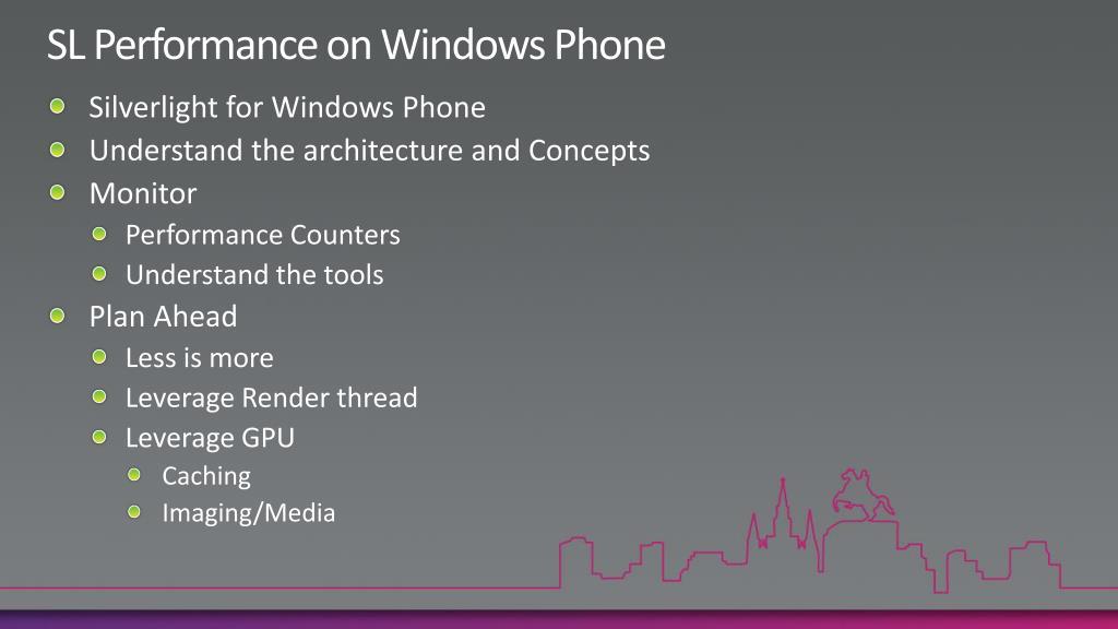 SL Performance on Windows Phone