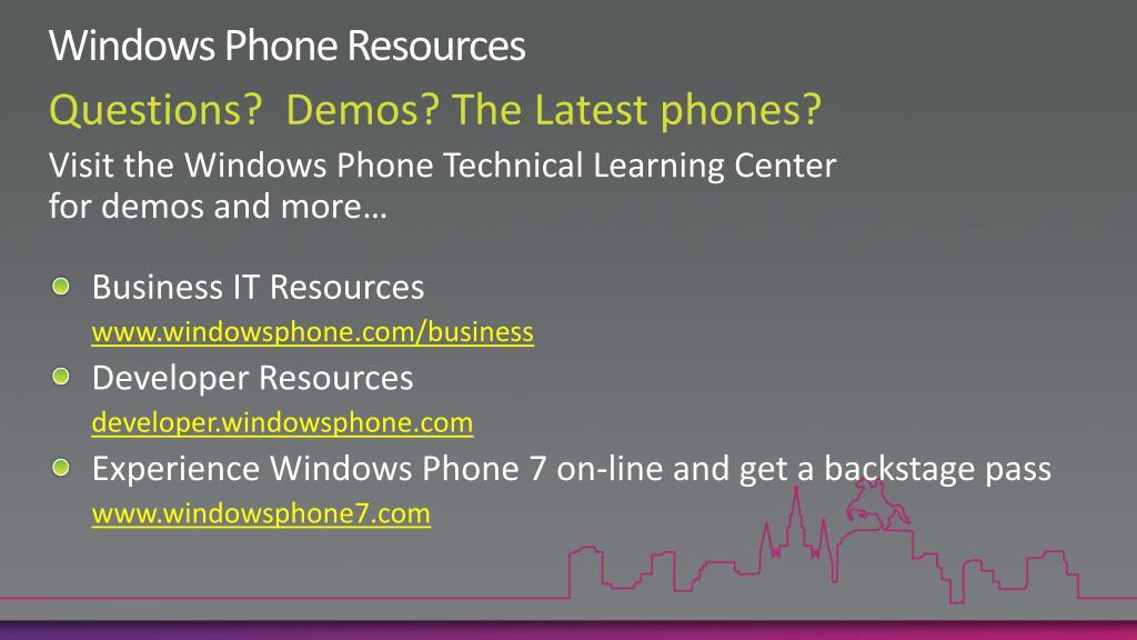 Windows Phone Resources