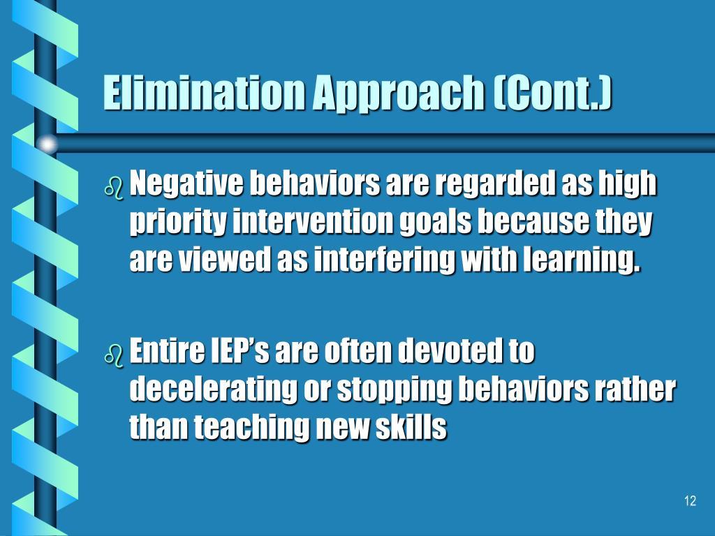 Elimination Approach (Cont.)