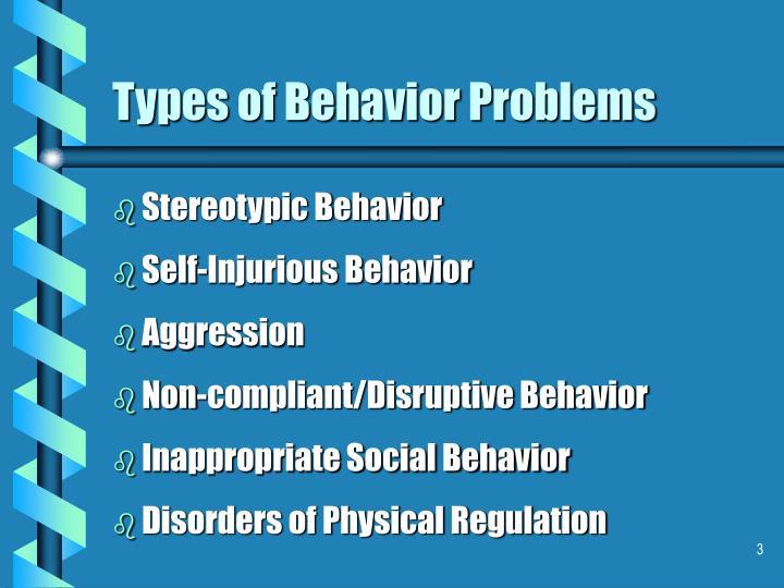 Types of behavior problems