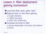lesson 2 fiber deployment gaining momentum