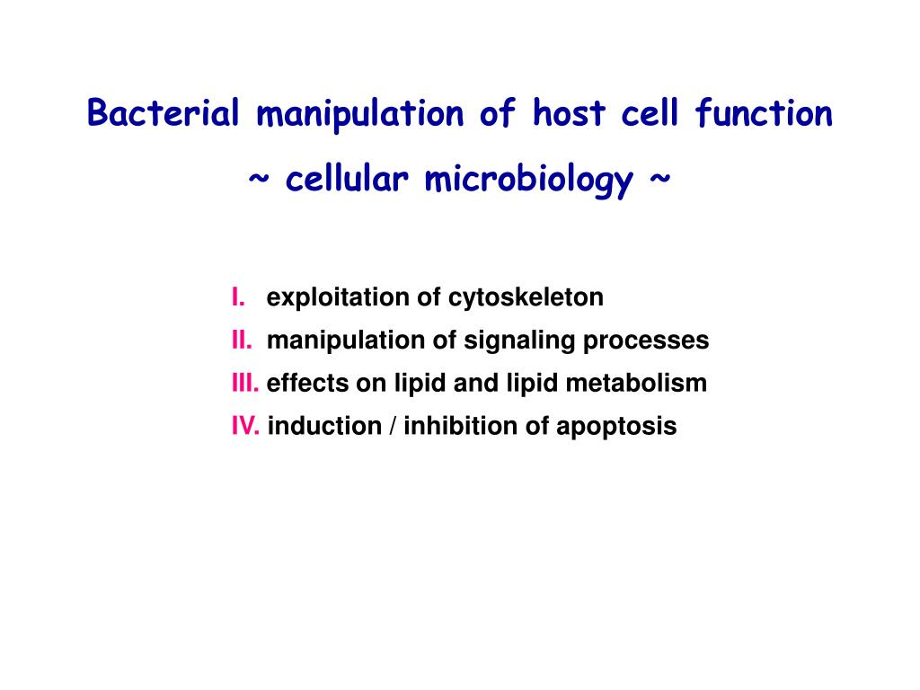 Bacterial manipulation of host cell function
