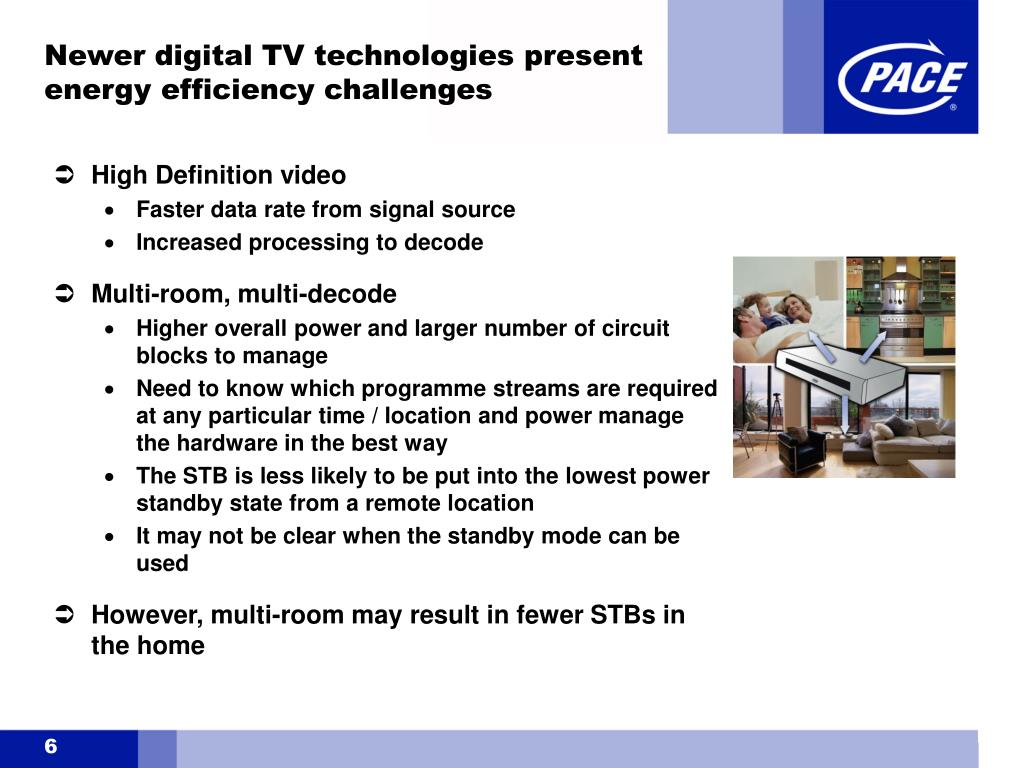 Newer digital TV technologies present energy efficiency challenges