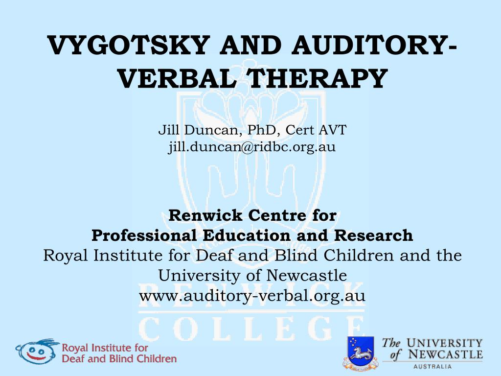 VYGOTSKY AND AUDITORY-VERBAL THERAPY