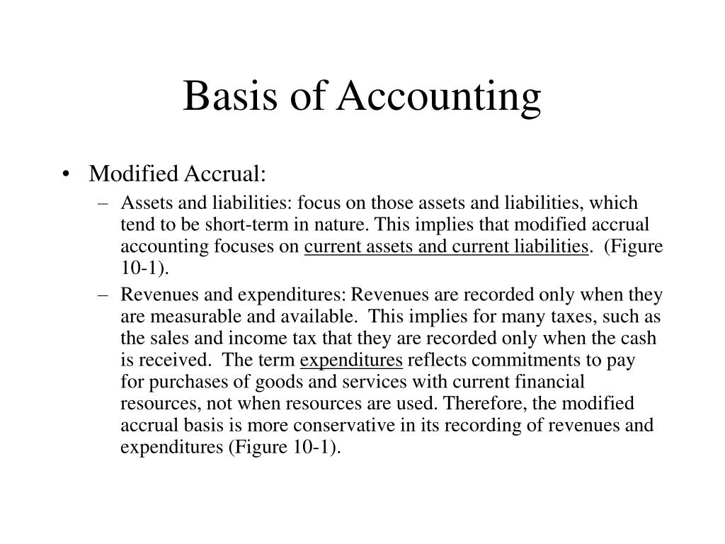 Basis of Accounting