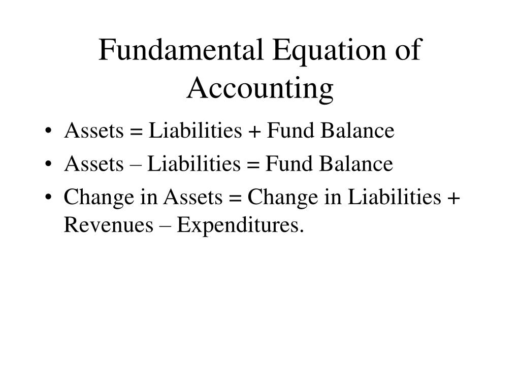 Fundamental Equation of Accounting
