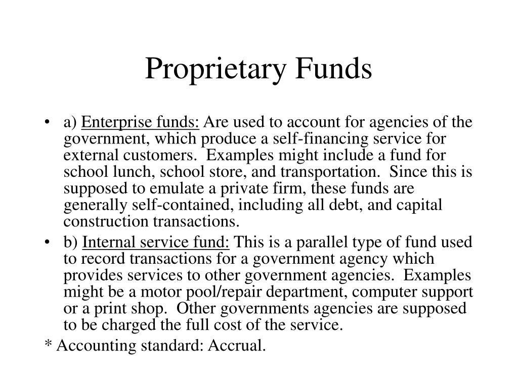 Proprietary Funds