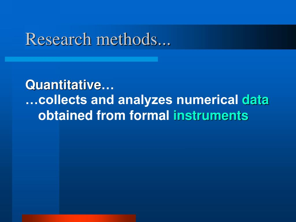 Research methods...