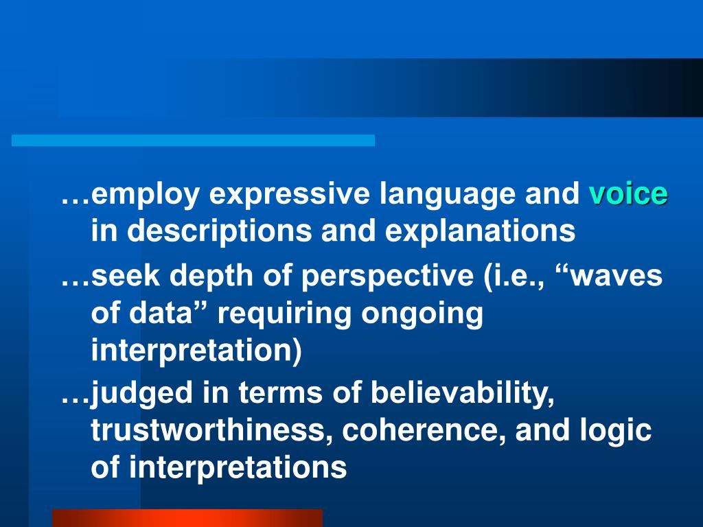 …employ expressive language and