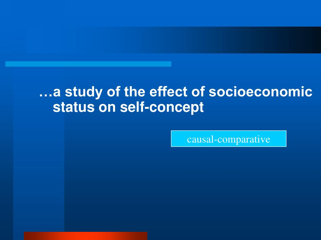 …a study of the effect of socioeconomic status on self-concept
