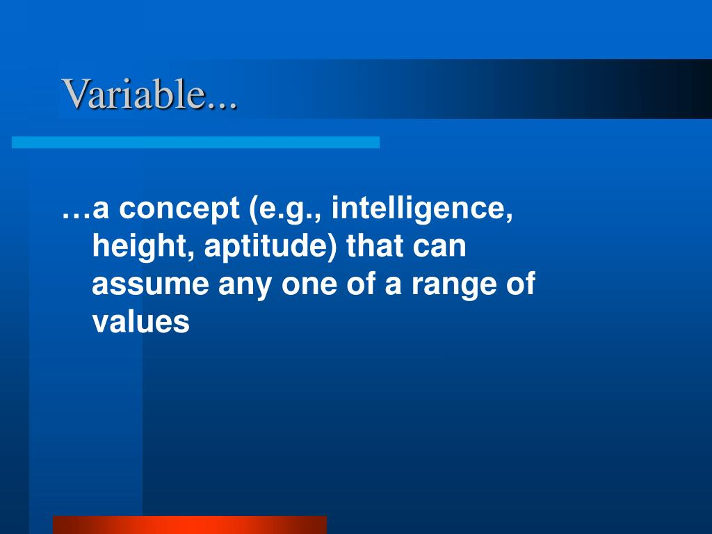 Variable...