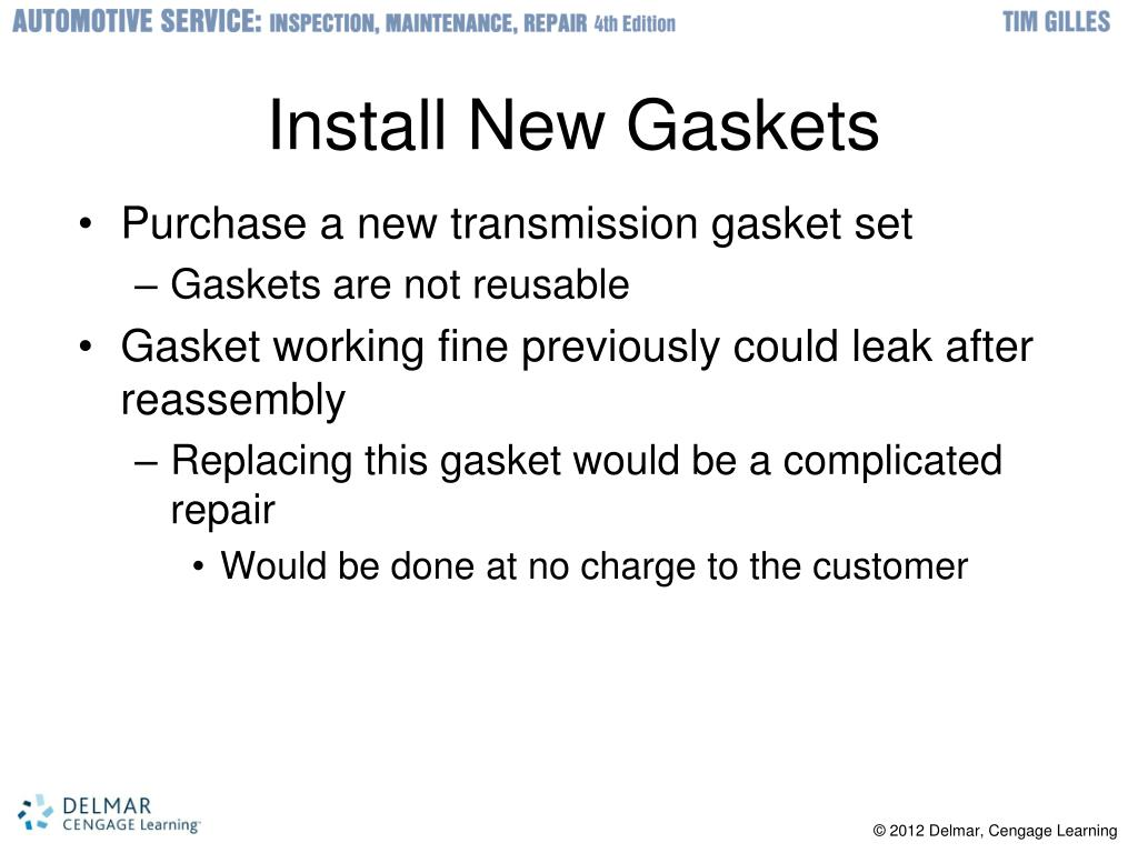 Install New Gaskets