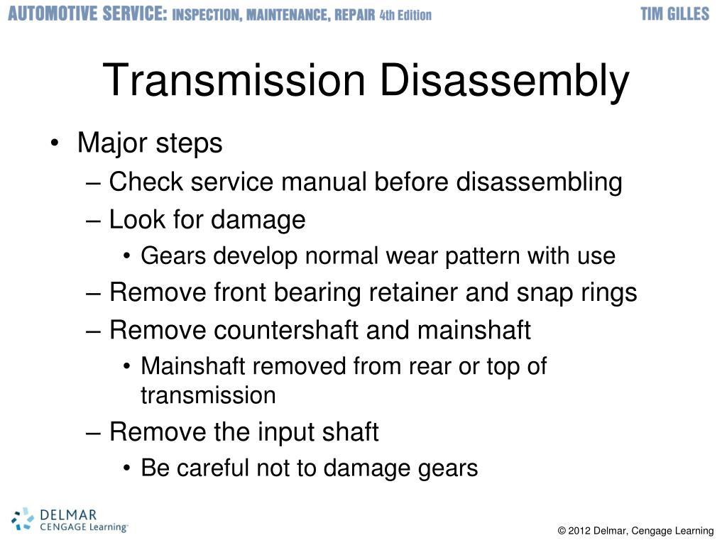 Transmission Disassembly