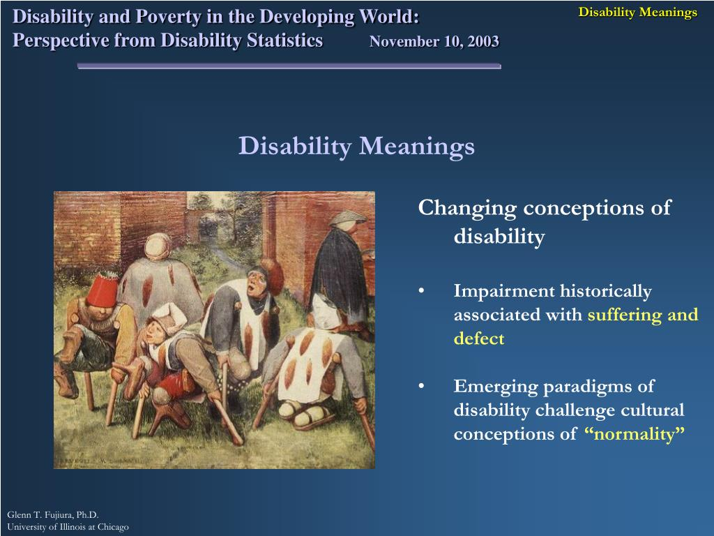 Disability Meanings
