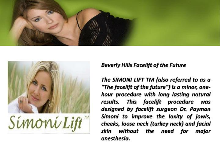 Beverly Hills Facelift of the Future