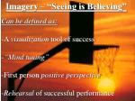 imagery seeing is believing