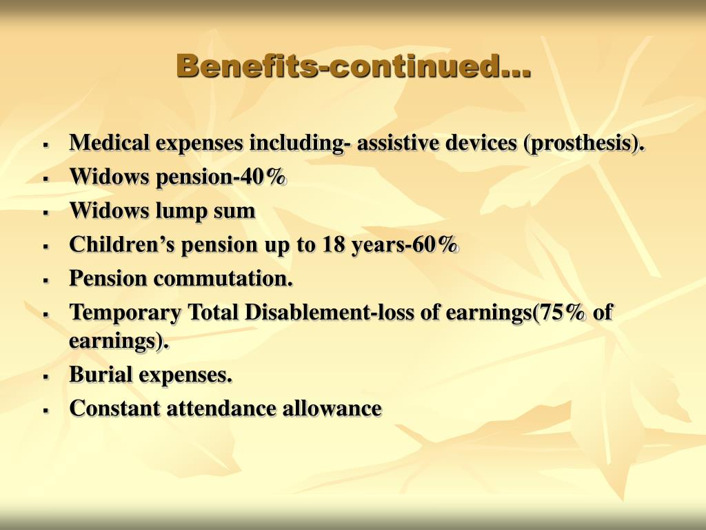 Benefits-continued…