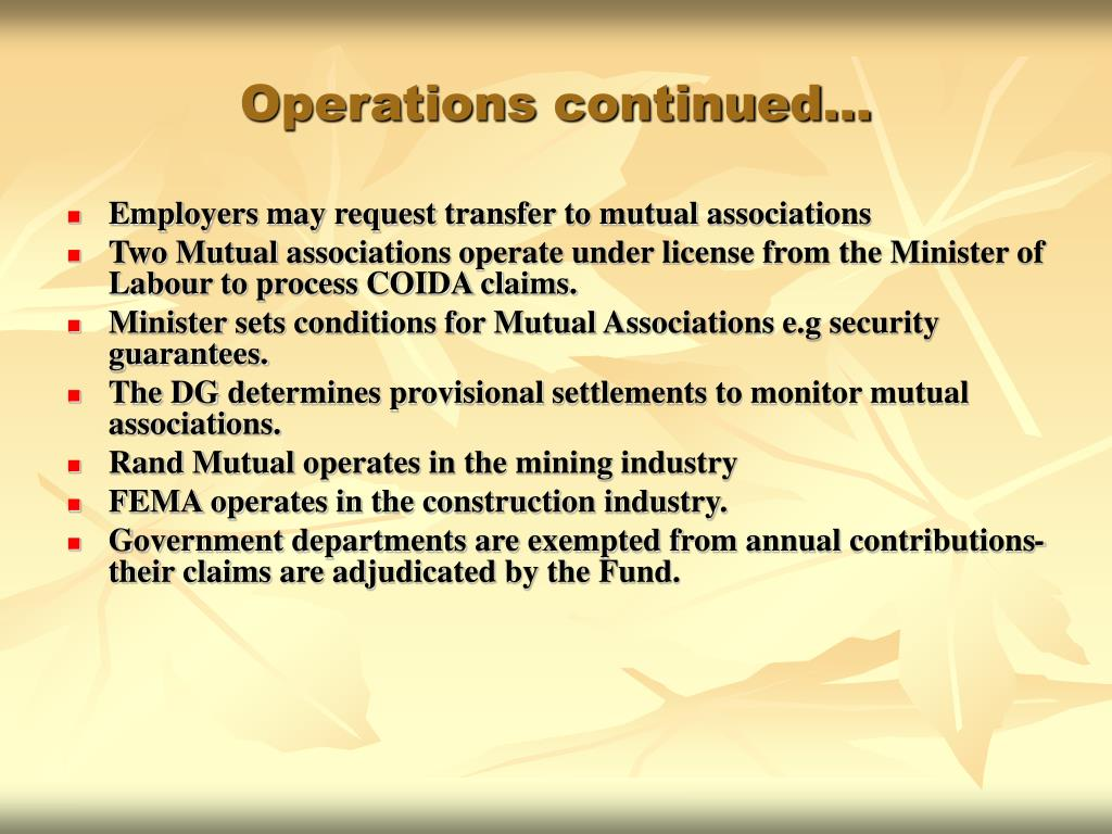 Operations continued…