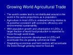 growing world agricultural trade