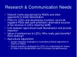research communication needs