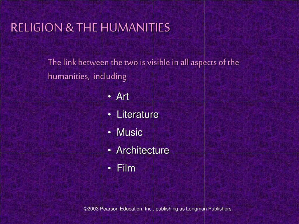 RELIGION & THE HUMANITIES