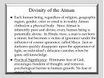 divinity of the atman