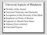 universal aspects of hinduism