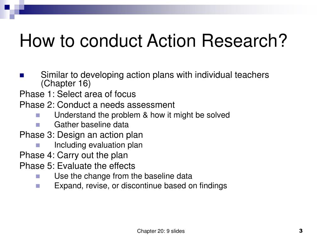 How to conduct Action Research?