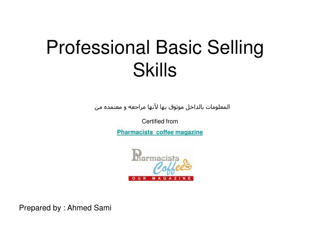 professional basic selling skills l.