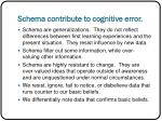 schema contribute to cognitive error