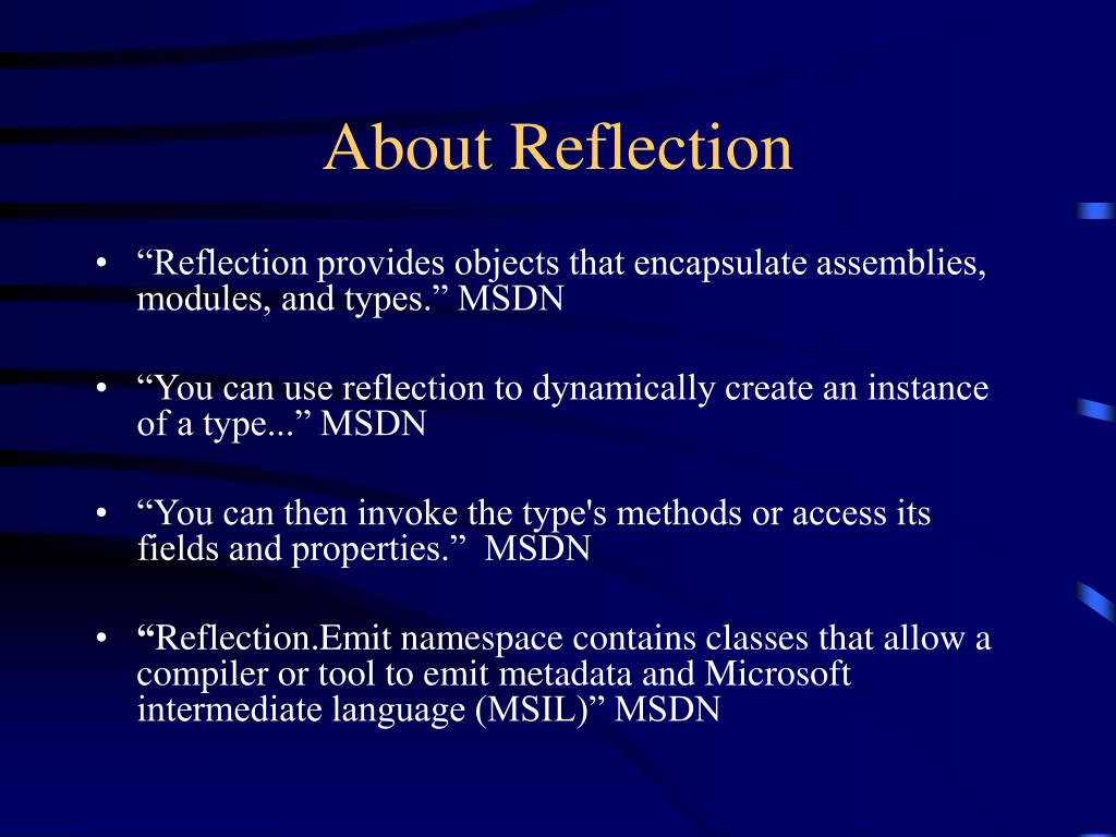 About Reflection