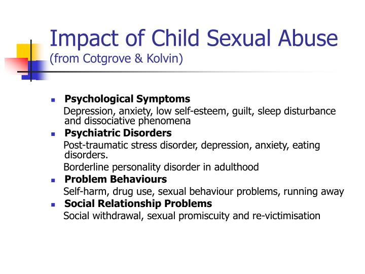 Impact of Child Sexual Abuse