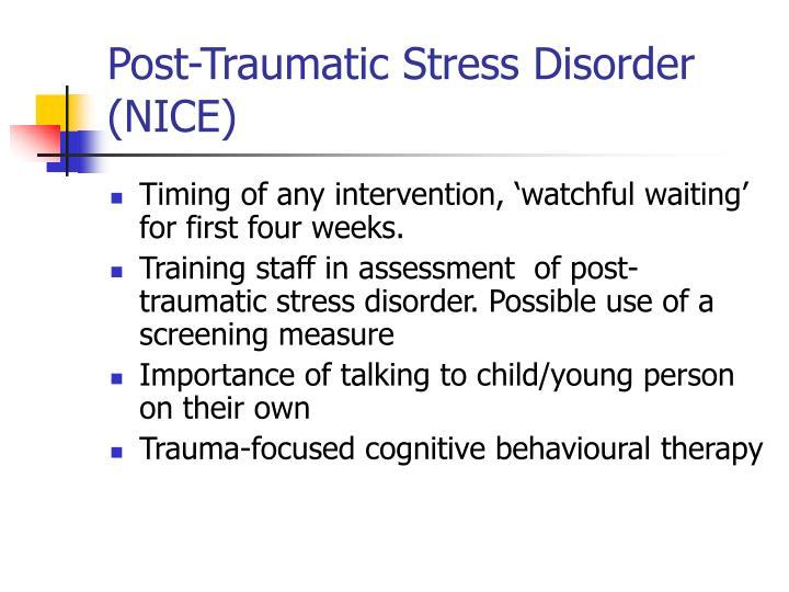 Post-Traumatic Stress Disorder (NICE)