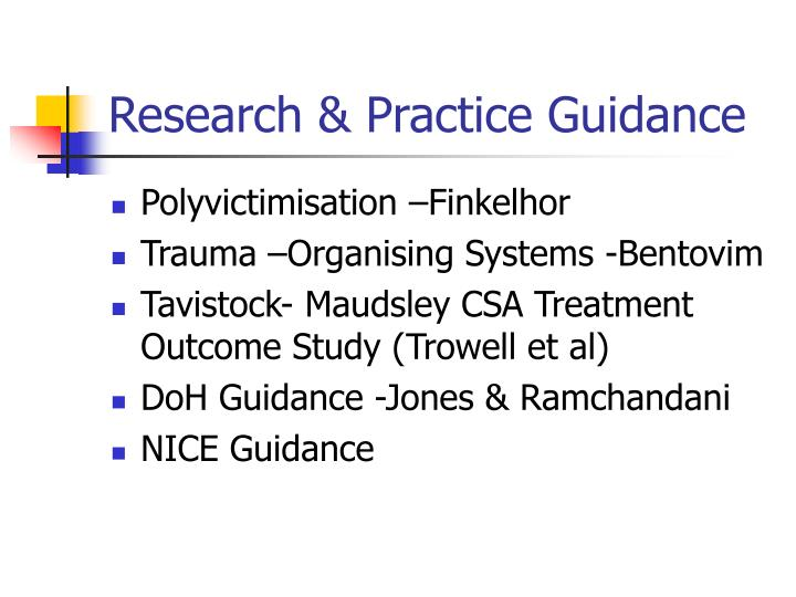Research practice guidance