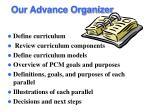 our advance organizer