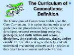 the curriculum of connections definition