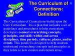the curriculum of connections definition32