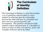 the curriculum of identity definition39