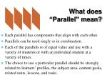 what does parallel mean