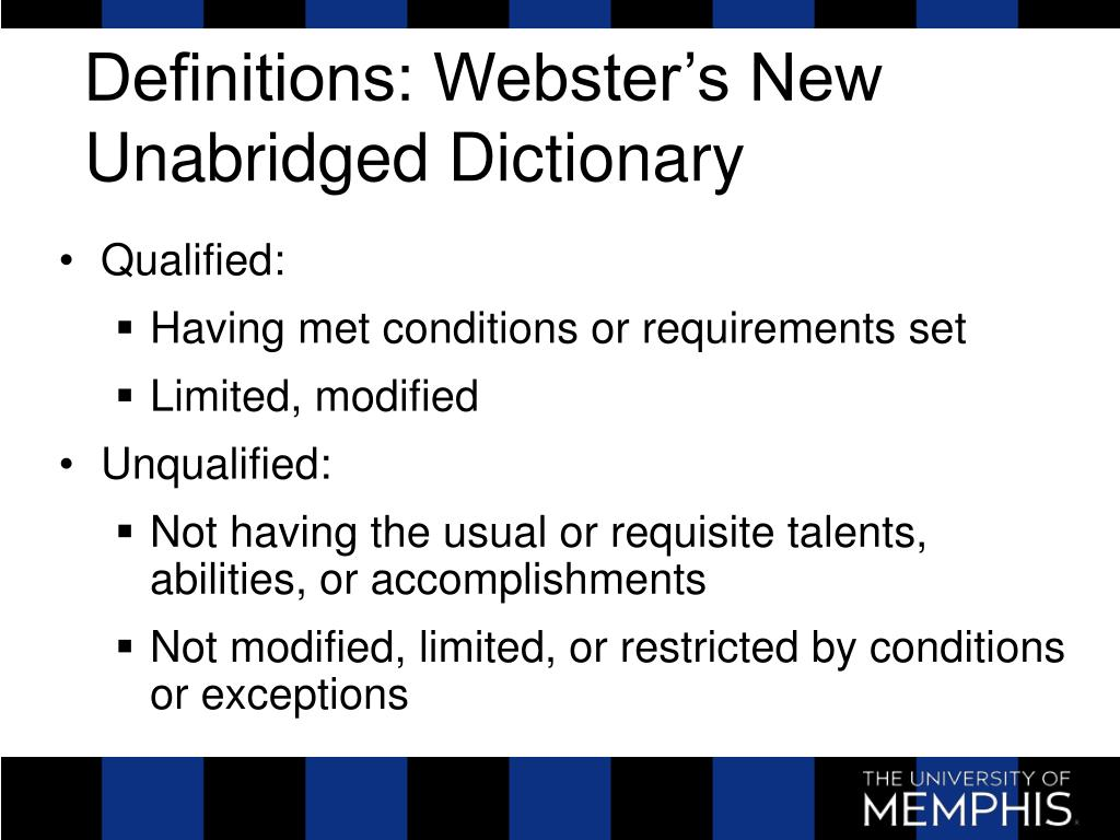 Definitions: Webster's New Unabridged Dictionary