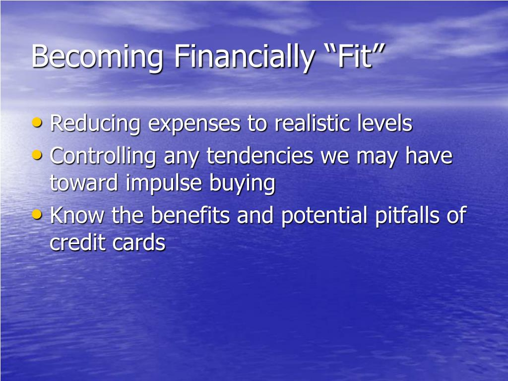 "Becoming Financially ""Fit"""